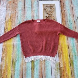 UO Pins & Needles Chunky Knit Oversized Sweater S